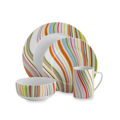Marble Swirl 4-Piece Dinnerware Set