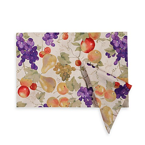 Bountiful mosaic placemat and napkins bed bath beyond for Bountiful storage