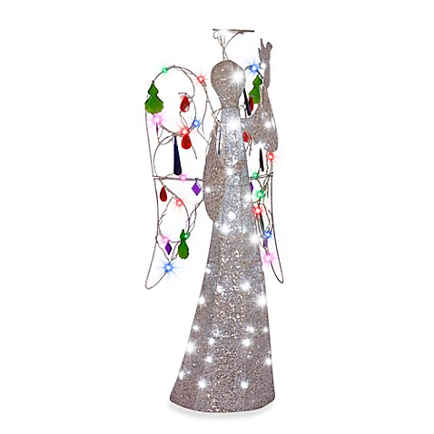 Multi-Color Jeweled 4-Foot Crystal Angel