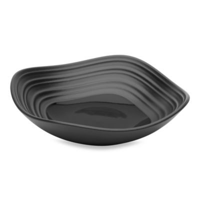 Swirl Black 14-Ounce Square Fruit Bowl
