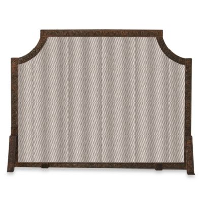 UniFlame® S-6400 39-Inch Antique Copper Patina Embossed Fireplace Screen