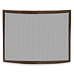 UniFlame® S-6402 Antique Copper Patina Curved/Embossed Fireplace Screen
