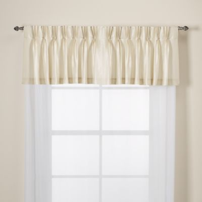 Argentina Pinch Pleat Back Tab Window Valance in Chocolate