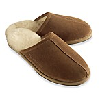 Brookstone® Men's Shearling Slippers