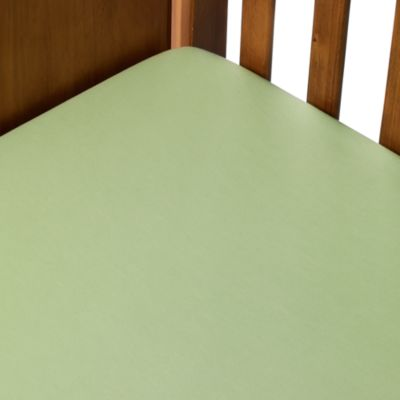TL Care® Cotton Jersey Crib Sheet in Apple Green