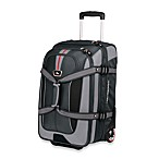 High Sierra AT656 Grey Carry On Wheeled Duffel with Backpack Straps