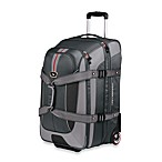 High Sierra AT658 Grey Expandable Wheeled Duffel with Backpack Straps