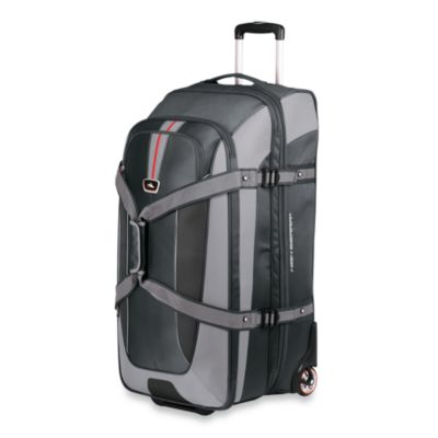 High Sierra AT659 Wheeled Grey Duffel with Backpack Straps