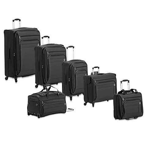 DELSEY Helium Superlite Spinner Luggage Collection in Black