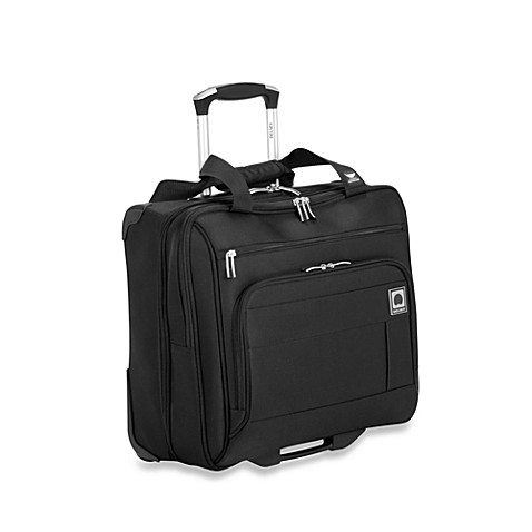 DELSEY Helium Superlite Spinner Trolley Tote in Black