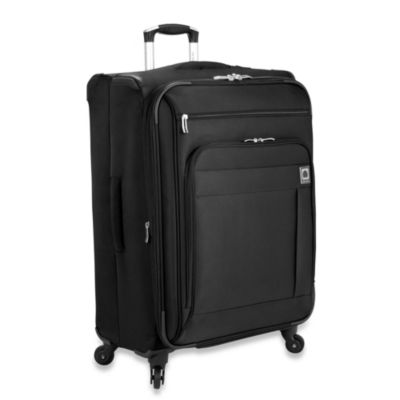 Delsey Helium Superlite Spinners 24-Inch Black Expandable