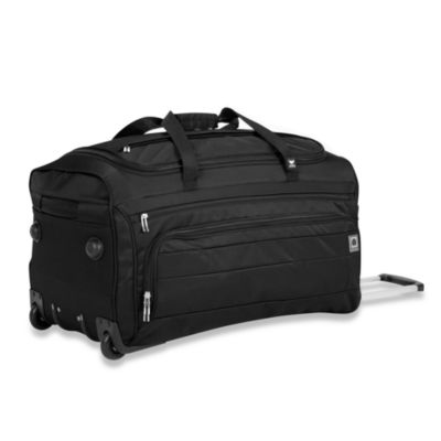 Delsey Helium Superlite Spinners Black Trolley Two-Wheel Duffel