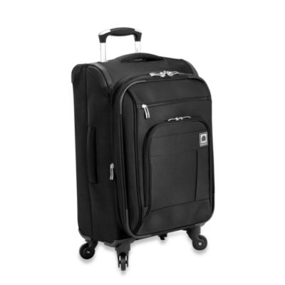 Delsey Helium Superlite Spinners 20-Inch Black Expandable Carry-On