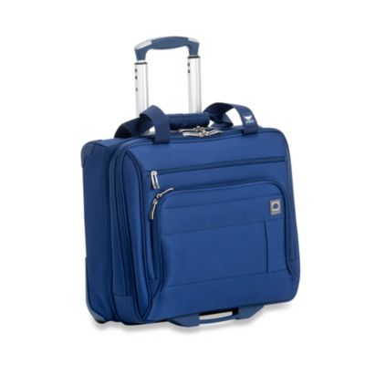 Delsey Helium Superlite Spinners Blue Trolley Tote