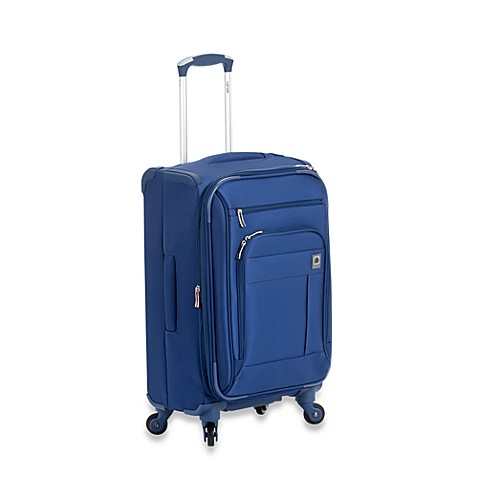 DELSEY Helium Superlite Spinners 20-Inch Carry-On Expandable in Blue