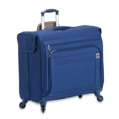 Delsey Helium Superlite Spinners Blue Trolley Garment Bag