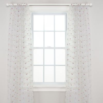 Glenna Jean Penelope Sheer Panel Drapes (Set of 2)