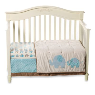 Sumersault Spotted Ellie 4-Piece Crib Bedding Set