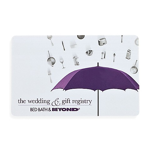 buy quot the wedding amp gift registry quot bridal shower gift card bed bath and beyond registry wedding