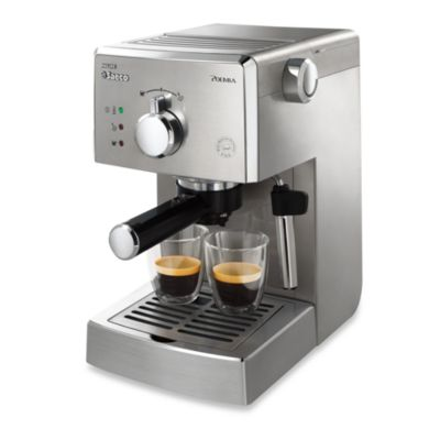 Philips Saeco Poemia HD8327/47 Stainless Steel Manual Pump Espresso Machine