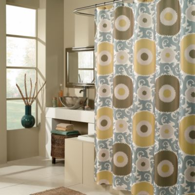 Metallic Fabric Shower Curtains