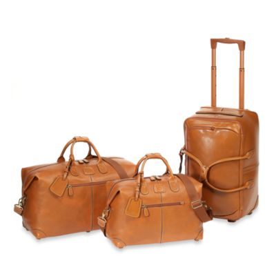Bric's Pelle 21-Inch Carry-On Rolling Duffle in Cognac