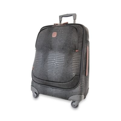 Bric's Lightweight 21-Inch Black Croc Carry-On Spinner