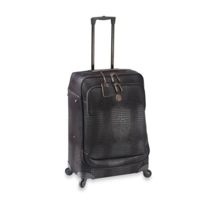 Bric's Lightweight 30-Inch Spinner in Black Croc