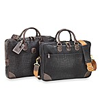 Bric's Nuovo Attache in Black Croc