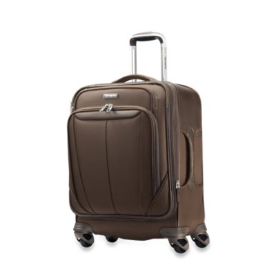 Samsonite® Silhouette Softside 20-Inch Widebody Carry-On Spinner in Brown
