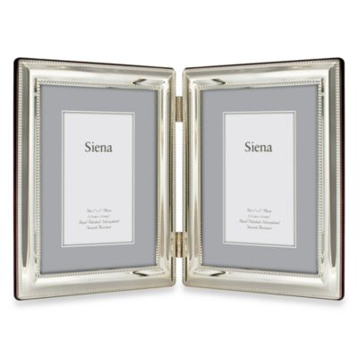 Siena Silver Pearl Beaded 5-Inch x 7-Inch 2-Opening Frame