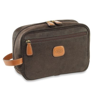 Bric's Men's Grooming Bag in Olive
