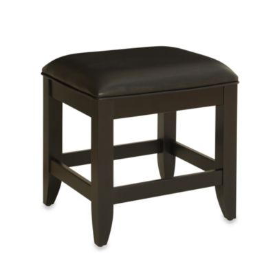 Home Styles Bedford Vanity Bench in Black