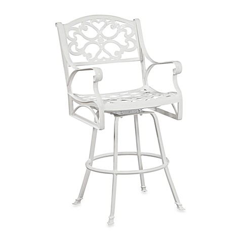 Home Styles Biscayne Bistro White Stool