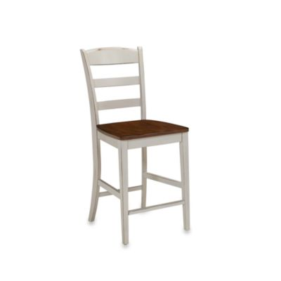 Home Styles Monarch Antiqued White Bar Stool