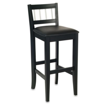 Home Styles Manhattan Black Pub Stool