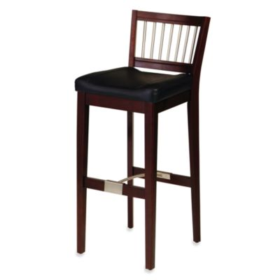 Home Styles Upholstered Cherry Bar Stool