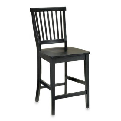 Home Styles Arts & Crafts Bar Stool in Black Finish
