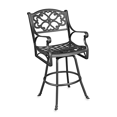 Home Styles Biscayne Bistro Stool in Black