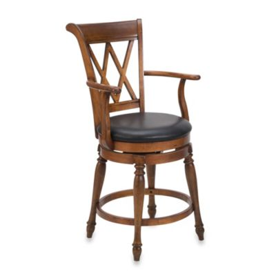 Home Styles Deluxe Traditions Bar Stool in Cottage Oak Finish