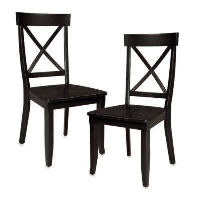 Home Styles Dining Chair in Black (Set of 2)