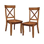 Home Styles Oak Dining Chairs (Set of 2)