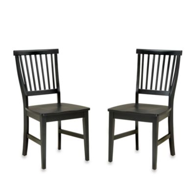 Home Styles Arts & Crafts Dining Chairs in Black (Set of 2)