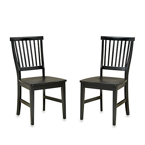 Home Styles Arts & Crafts Black Dining Chair (Set of 2)