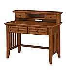 Home Styles Arts & Crafts Cottage Oak Student Desk w/Hutch