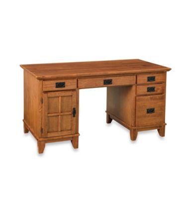 Arts & Crafts Pedestal Desk