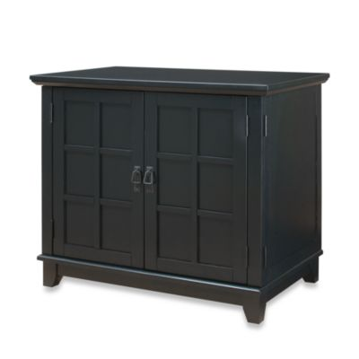 Home Styles Arts & Crafts Compact Desk in Black Finish