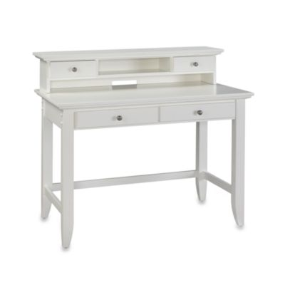 Home Styles Naples White Student Desk & Hutch