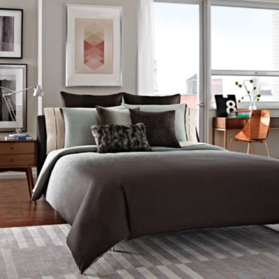 Kenneth Cole Reaction Home Hotel Full/Queen Comforter in Neutral