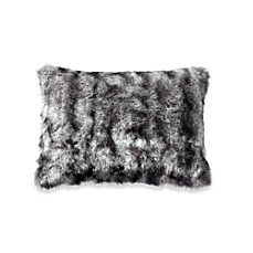 Kenneth Cole Reaction Home Hotel Faux-Fur Toss Pillow in Neutral